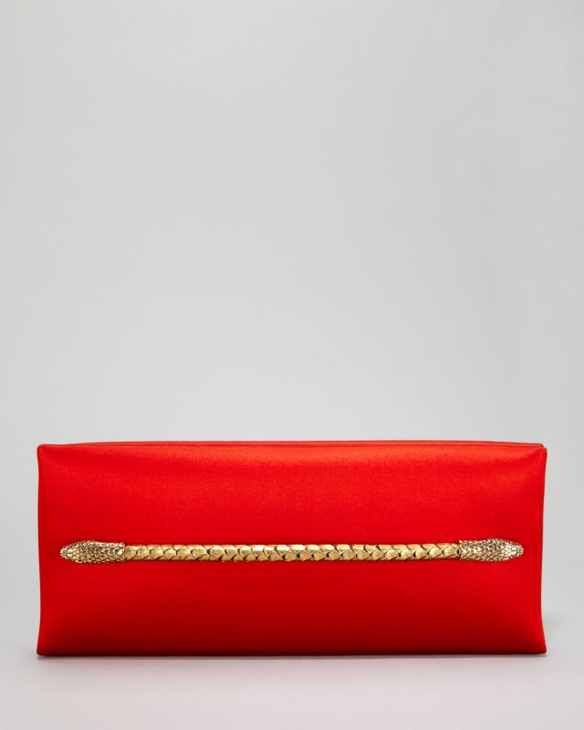 Tom-Ford-Two-Headed-Serpent-Coral-Red-Silk-Clutch