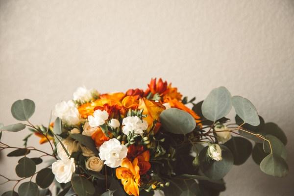 orange fiesta wedding