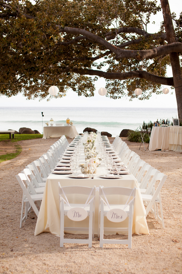 intimate white wedding