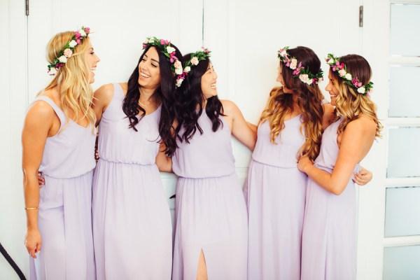 purple beach wedding
