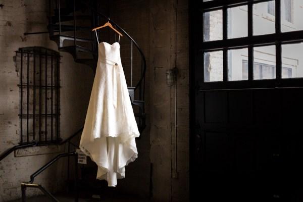 glam warehouse wedding