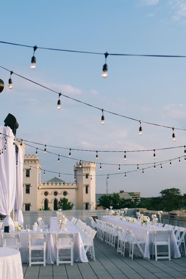 glam rooftop wedding