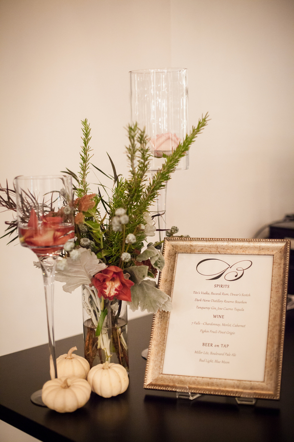 fall modern wedding