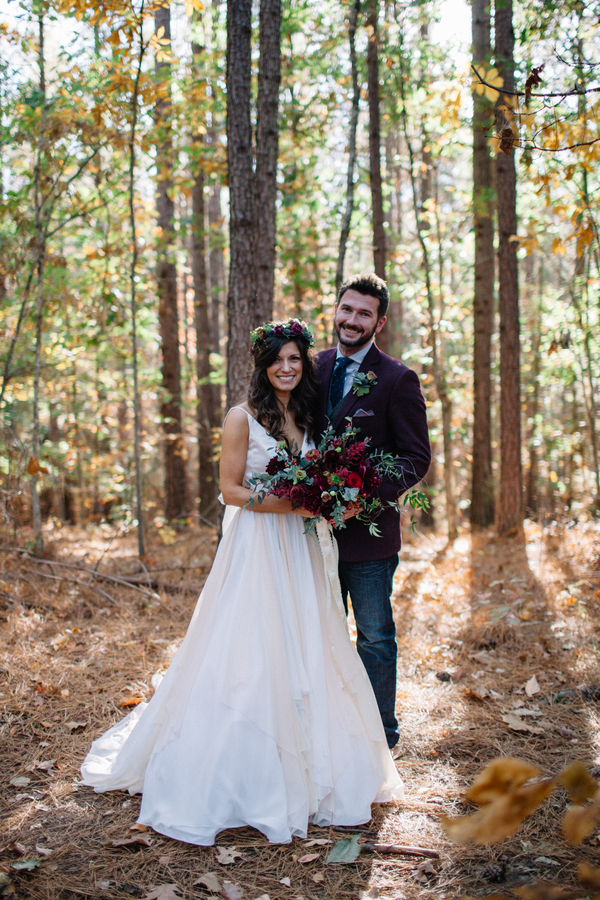 whimsical woodsy wedding