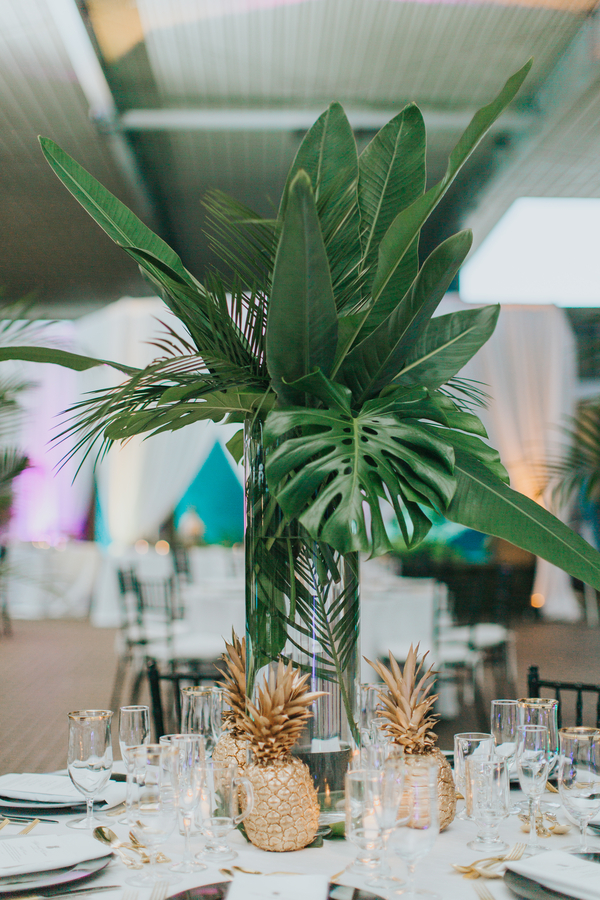 tropical aquarium wedding