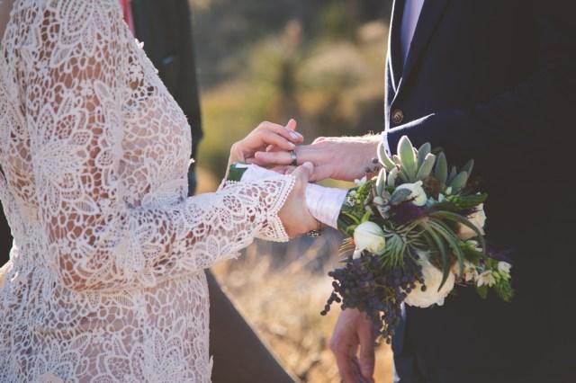 bohemian elopement wedding