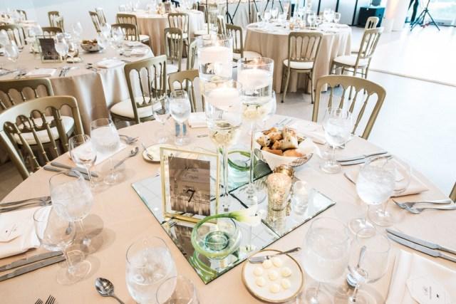 modern gold and white wedding