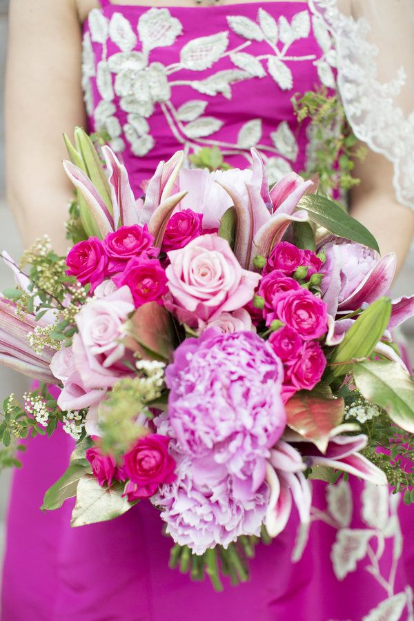 perfectly pink wedding