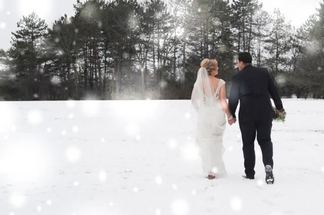 Michigan winter wedding