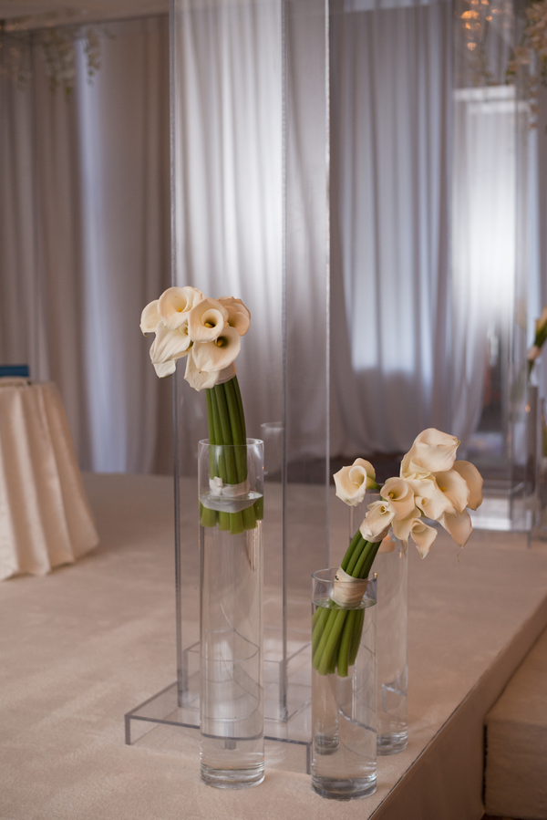 elegant monochromatic wedding