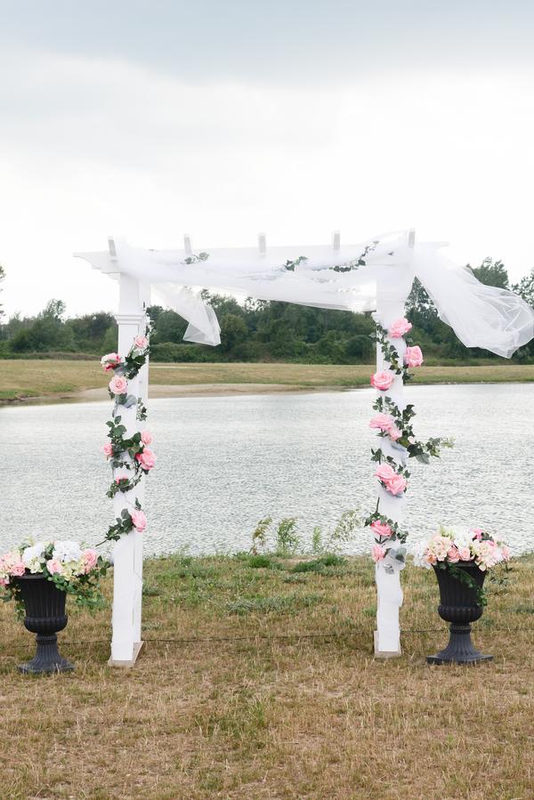 pink vintage wedding