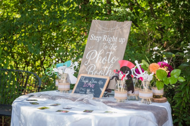 whimsical backyard wedding