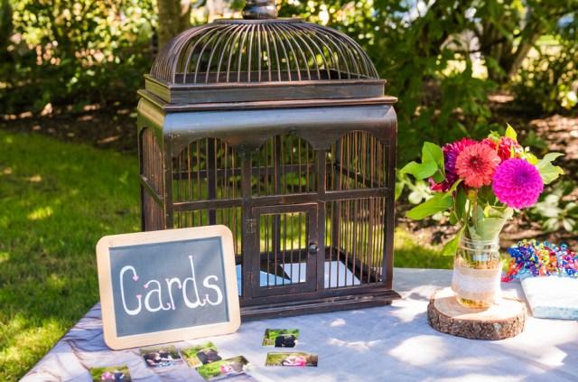 whimsical backyard wedding