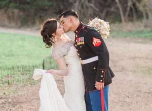 glamorous military wedding