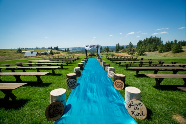 colorful Washington wedding