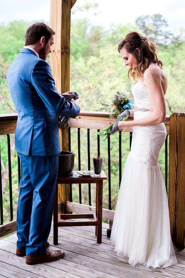 spring mountainside wedding