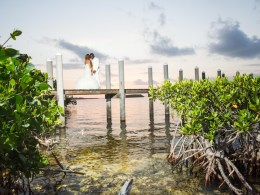 pink Florida Keys wedding