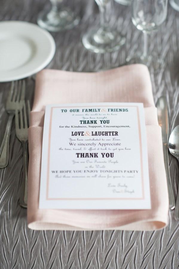 rustic peach wedding