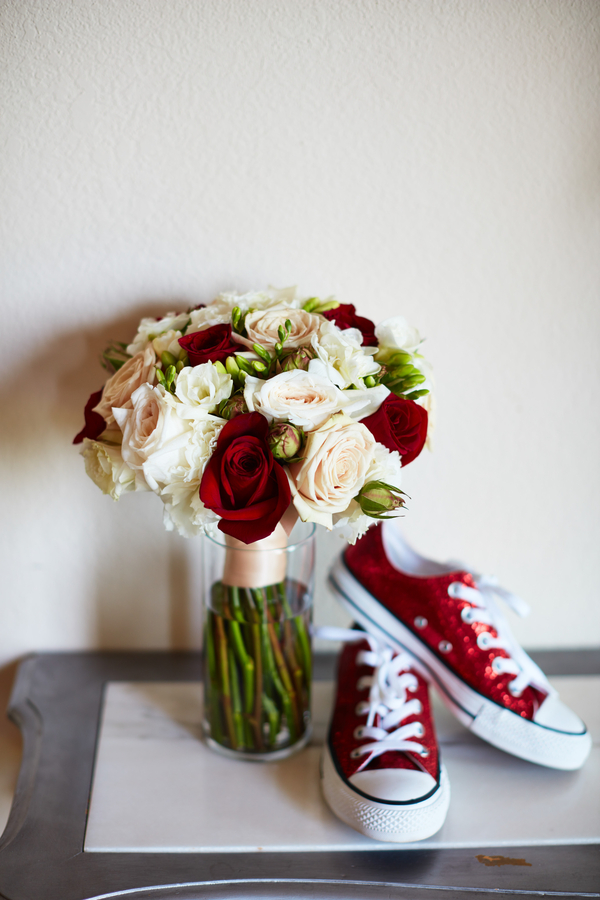 red Houston wedding
