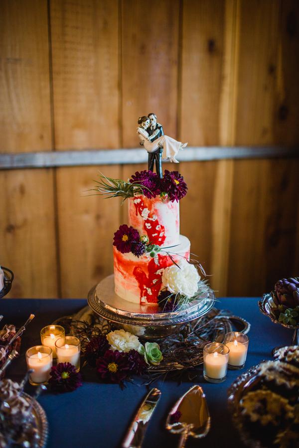 edgy barn wedding