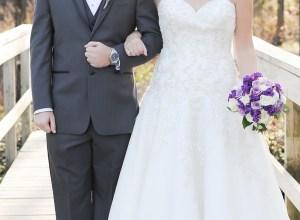 purple winter wedding