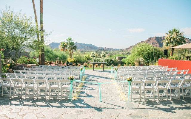 Arizona resort wedding