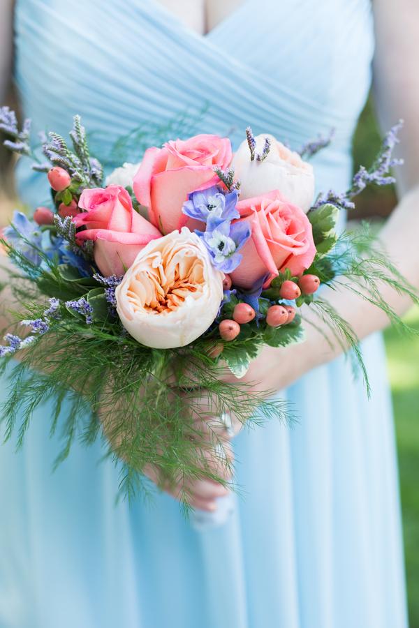 blue summer wedding
