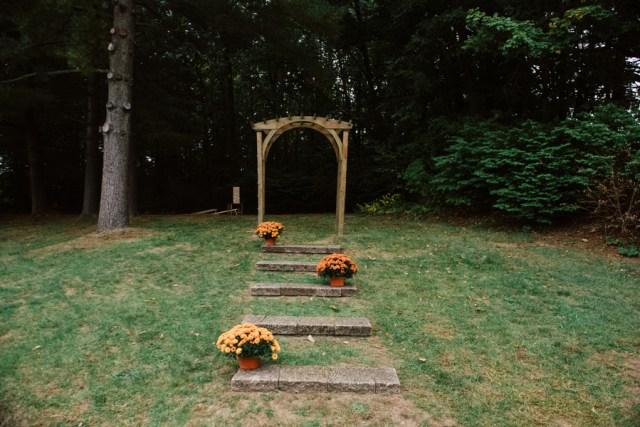 rustic lakeside wedding
