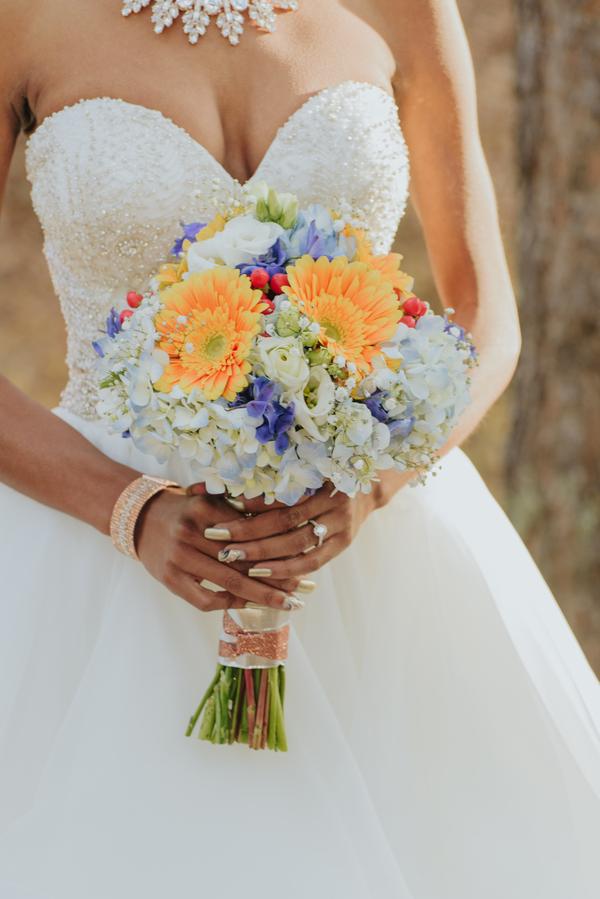 blue Colorado wedding