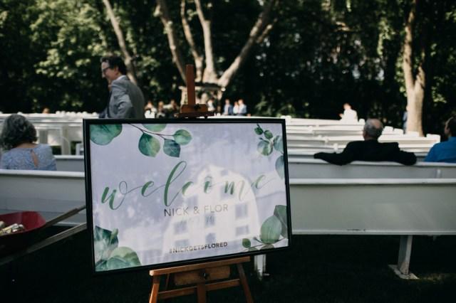 green barn wedding