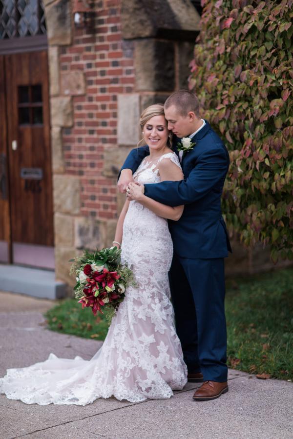 fall succulent wedding