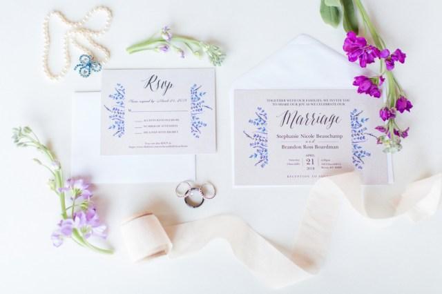 purple spring wedding