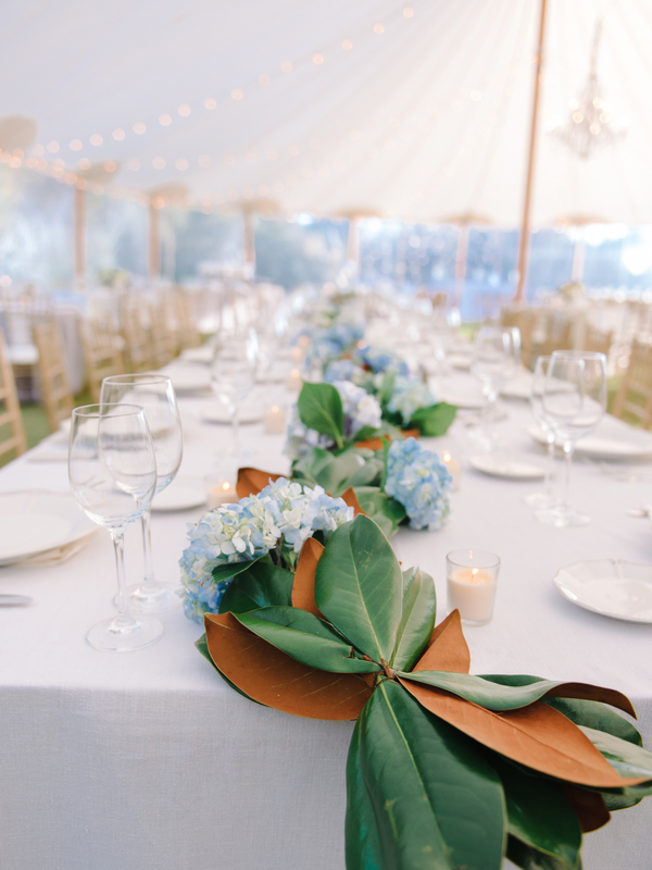 blue outdoor wedding
