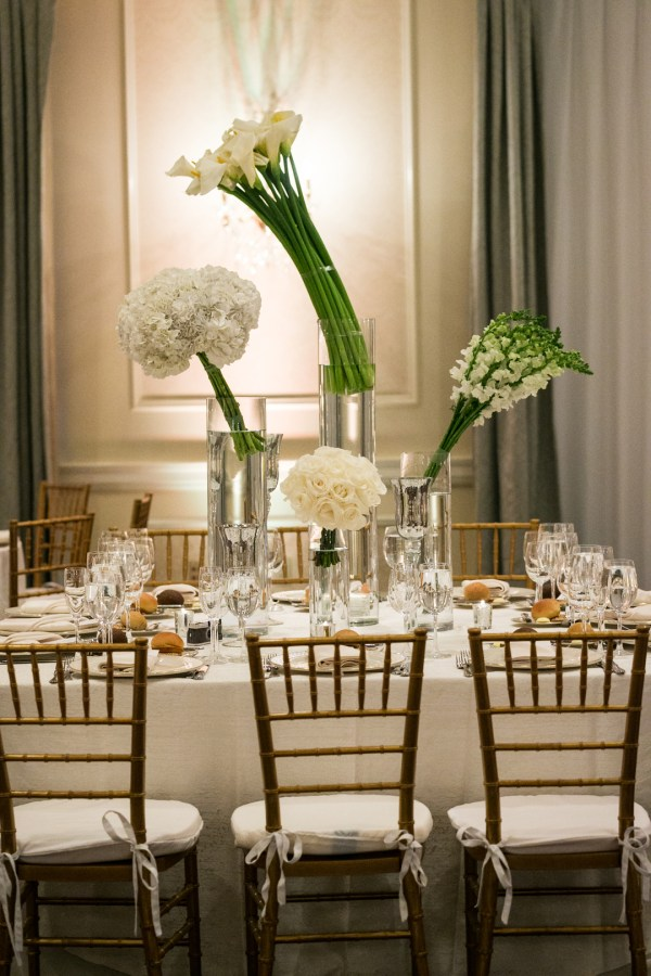 elegant white wedding