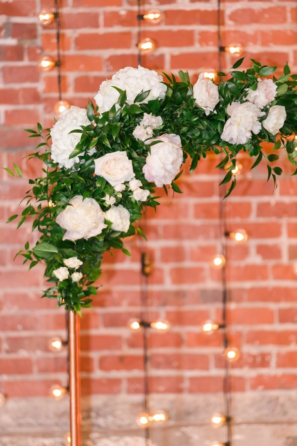 elegant industrial wedding