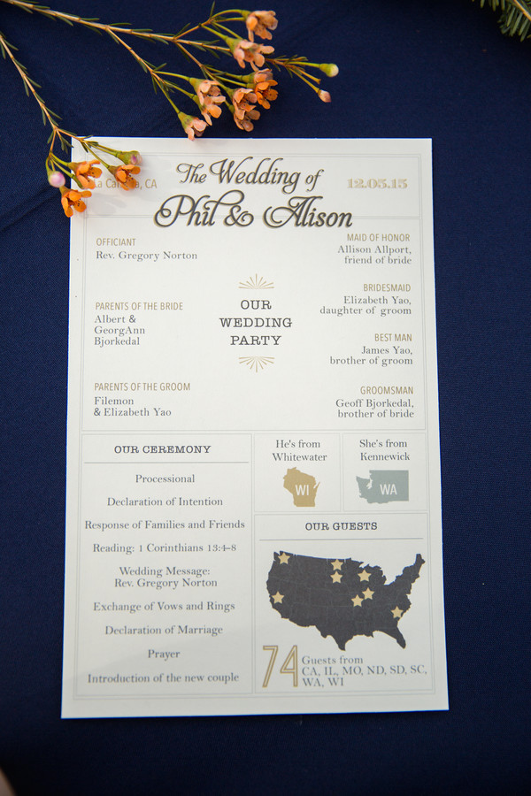 California brunch wedding