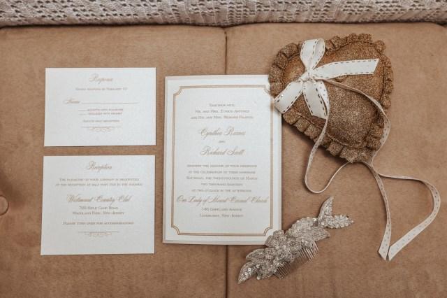 gold vintage wedding