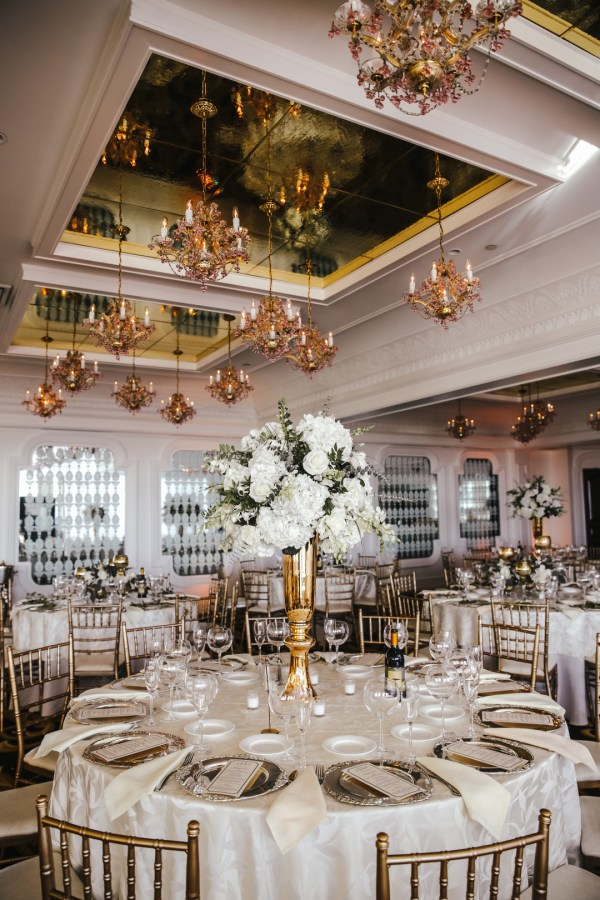 gold vintage wedding