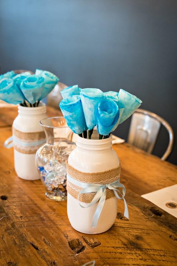 blue DIY wedding