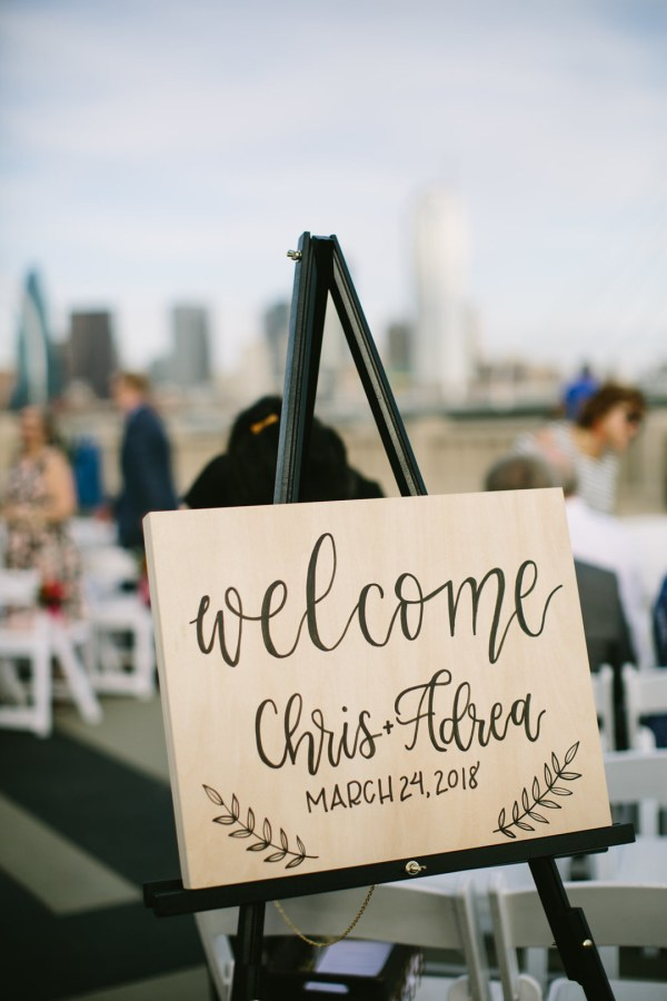 colorful downtown wedding