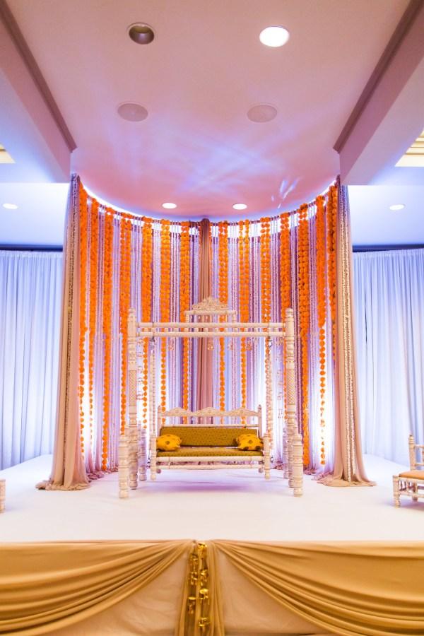 colorful glamorous wedding