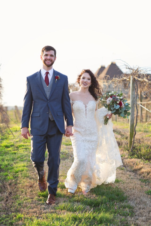 burgundy winery wedding