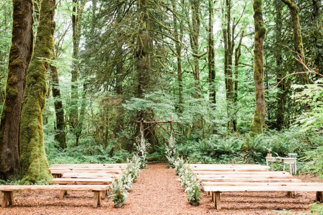 mossy forest wedding