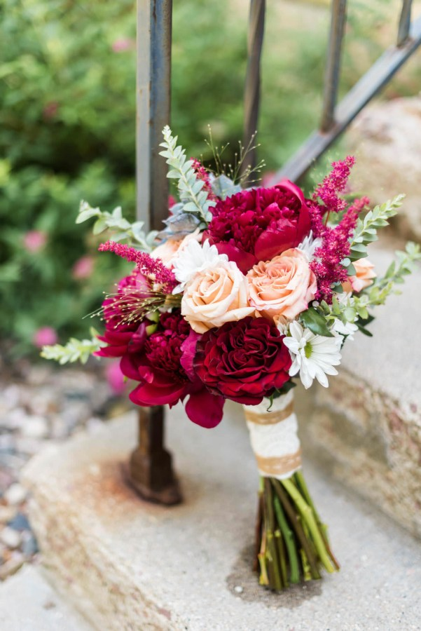 rustic maroon wedding