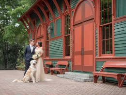 historic trolley barn wedding