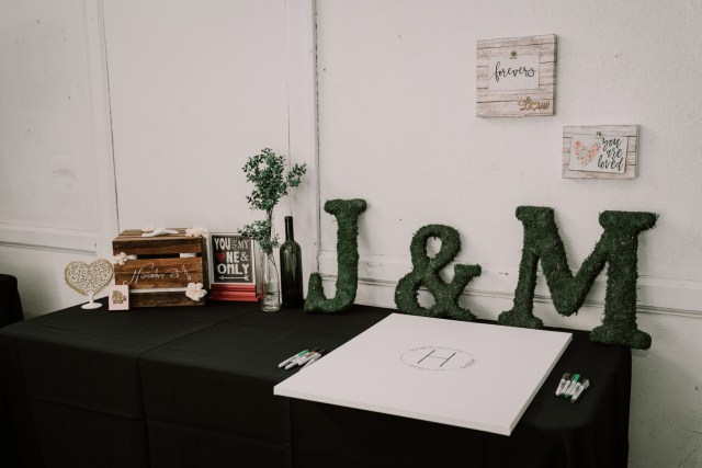 green industrial wedding