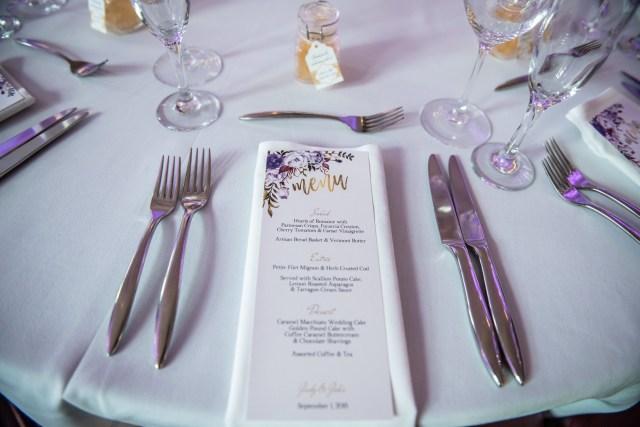 purple castle wedding