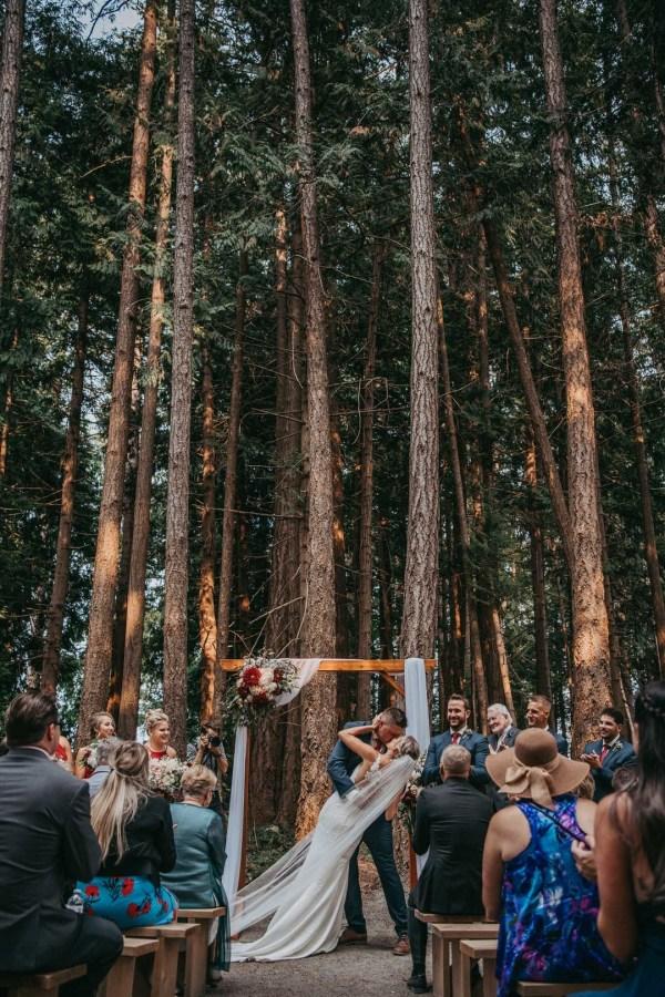red forest wedding