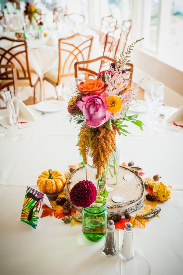 oceanside fall wedding