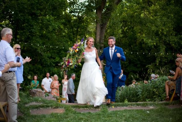 colorful summer wedding